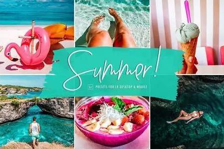 Bộ Preset Lightroom Summer Punch tone mùa hè (Mobile/Desktop)
