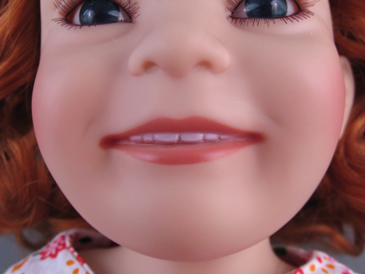 9d2d4896ff0 It's risky to make a smiling doll with visible teeth, but I think Grace  pulls it off. Her teeth are appropriately sized, in scale with her face, ...