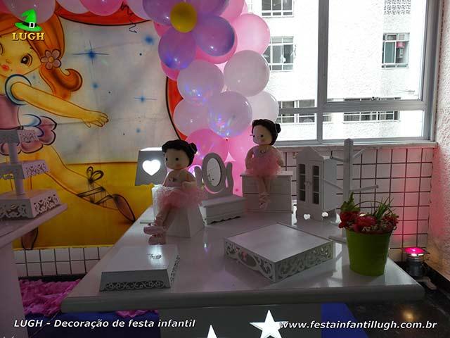 Decoração infantil Bailarinas - festa de aniversário