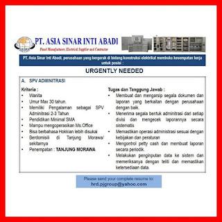 Supervisor Administrasi di PT Asia Sinar Inti Abadi