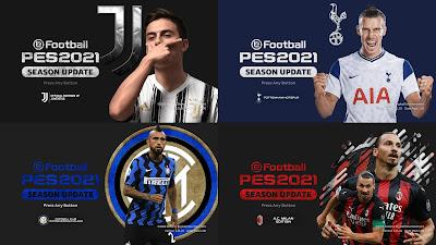PES 2021 Graphic Menu Mod by Hawke ( Juventus, AC Milan, FC Inter, Tottenham )