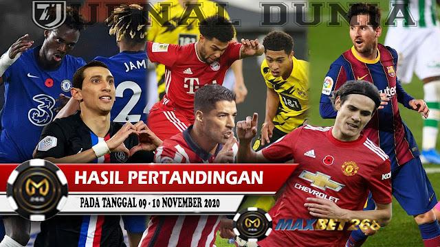 Hasil Pertandingan Sepakbola Tanggal 09 - 10 November 2020