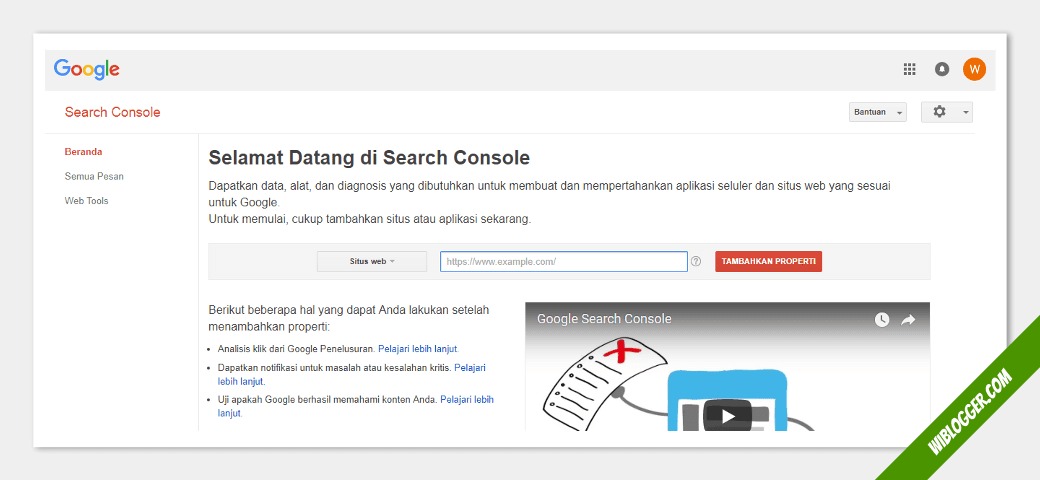 cara mendaftar google search console