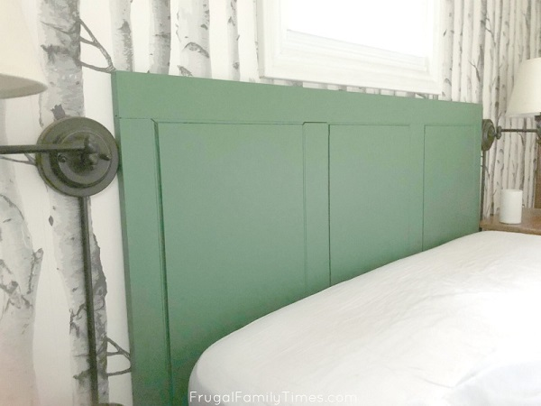 diy green headboard reclaimed