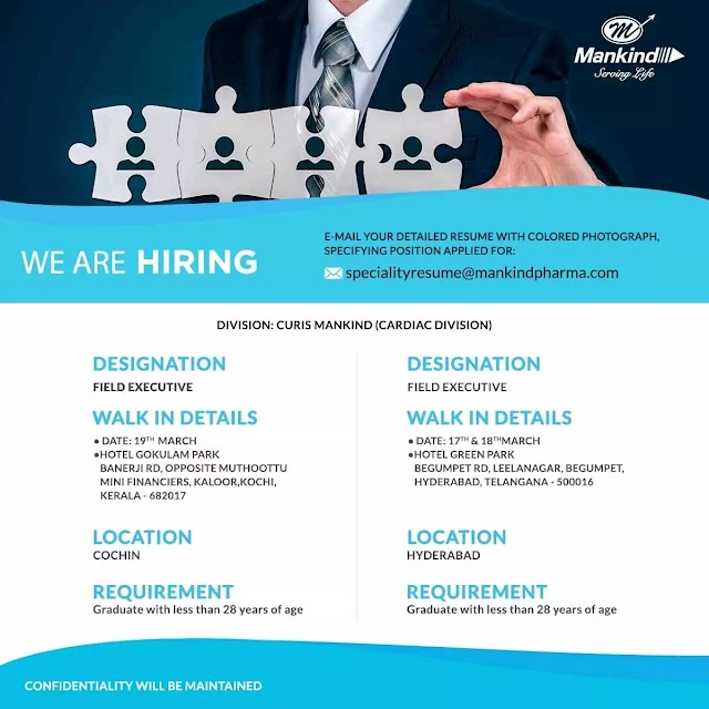 Job Opportunity in Mankanid Pharma