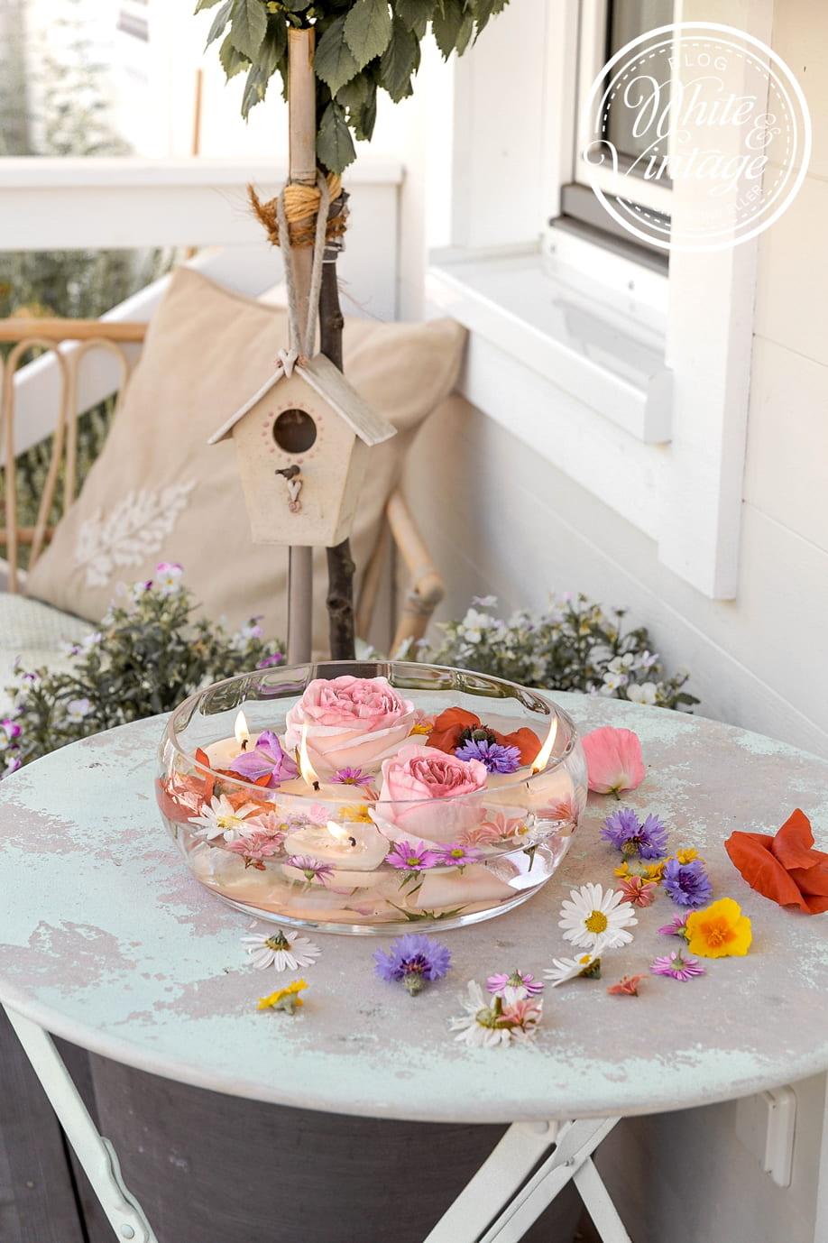Schwimmkerzen aus Kerzenresten selbermachen
