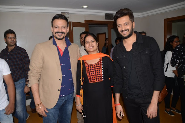 Vivek Oberoi, Riteish Deshmukh and Rhea Chakraborty Promote Bank Chor Movie
