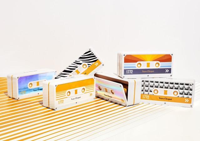 Veuve Clicquot Tape Limited Edition, Retro, Chic, Veuve Clicquot, Clicquot Tape, Limited Edition, cassette tape, Lifestyle