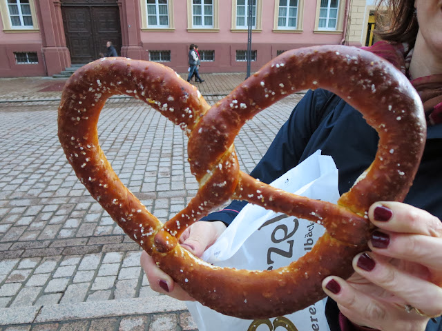 Giant pretzel in Speyer Germany