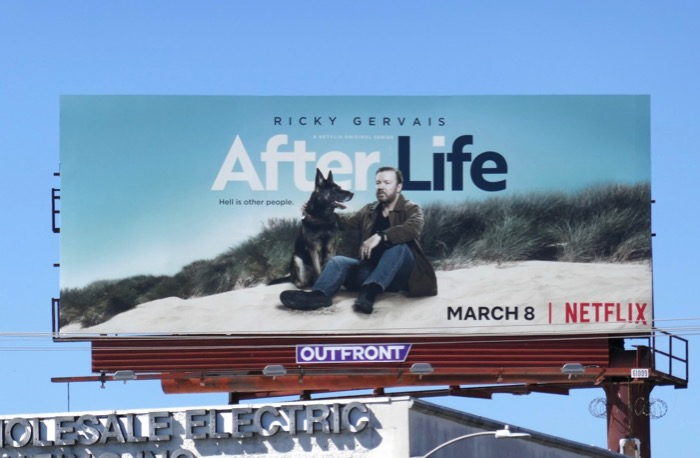 Ricky Gervais After Life Netflix series billboard