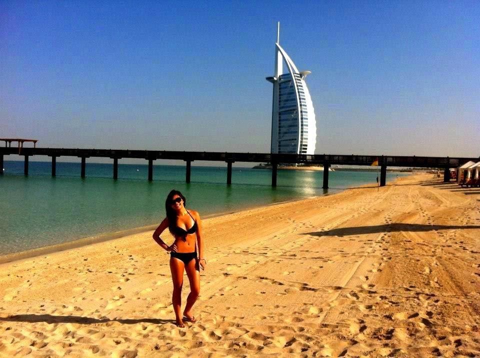Bikini Girl at Burj Al Arab, Dubai, United Arab Emirates