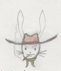 Lapin cow-boy