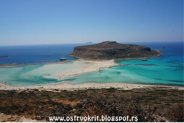 Plaza Balos na ostrvu Krit