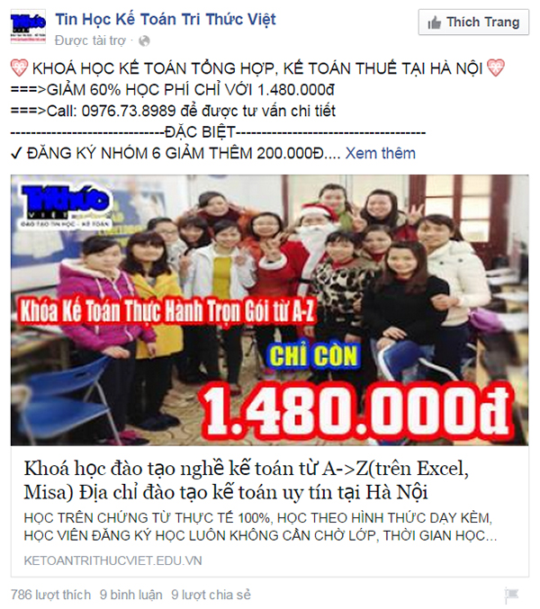 quang cao fanpage facebook