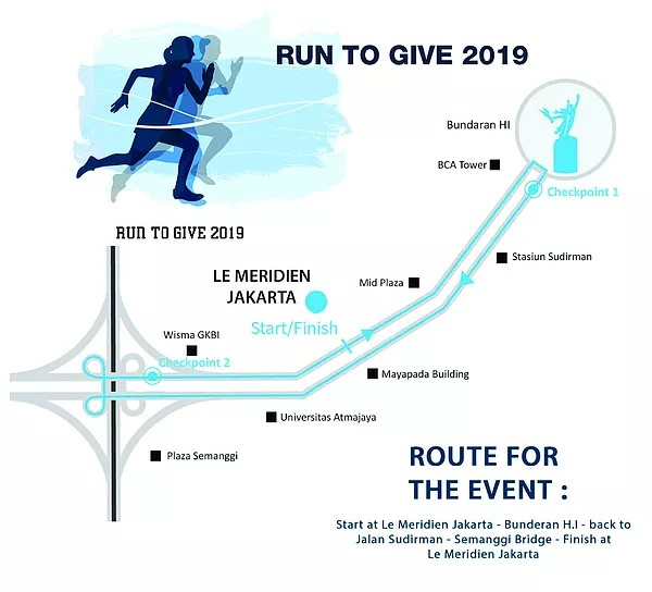 Run To Give - Jakarta • 2019 Map