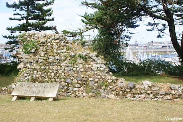I resti romani della Cité d'Aleth vicino a Saint Malo