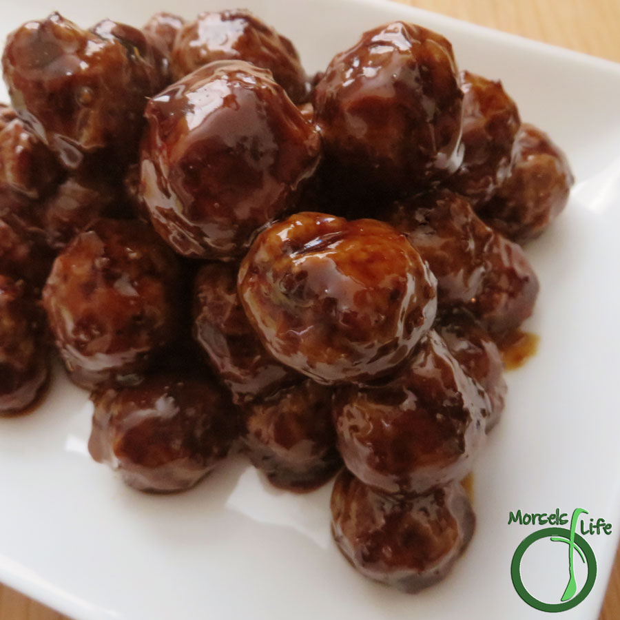 Morsels of Life - Asian Meatballs - Flavorful Asian meatballs with lemongrass and ginger in a savory sauce. Perfect as an appetizer or snack by themselves or as a meal served on rice or in a roll.