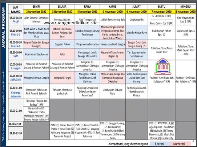 Jadwal BDR Di TVRI Tanggal 2, 3, 4, 5, 6, 7, 8 November