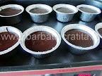 Vulcan de ciocolata preparare reteta - inainte de a introduce in cuptor