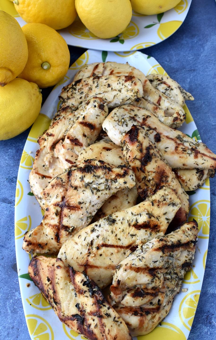 juicy grilled Greek chicken