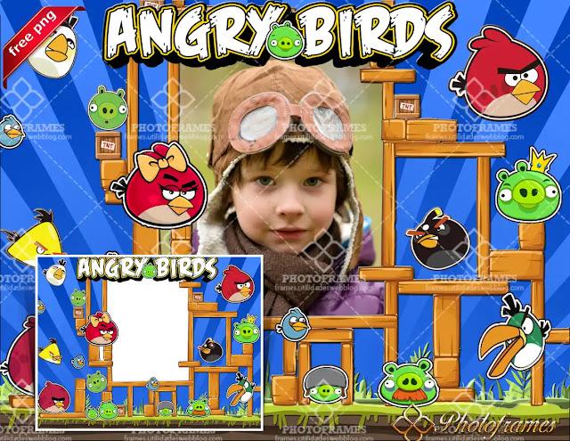 Marco para fotos inspirado en Angry Birds
