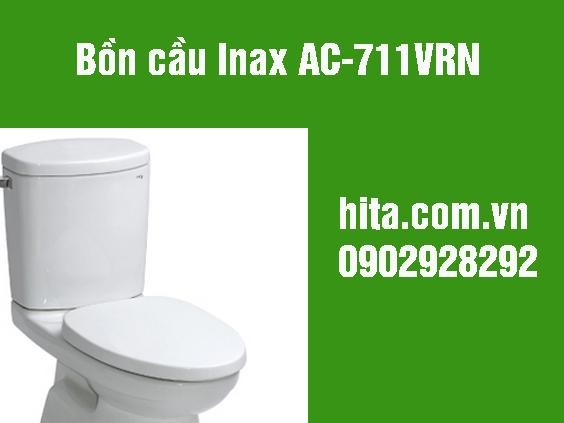 Giá và kích thước bồn cầu Inax AC-711VRN 2018