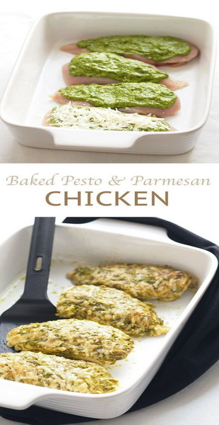 Baked Pesto Parmesan Chicken Recipe