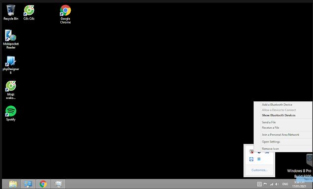 Mở blutooth trên laptop kết nối loa Google Home