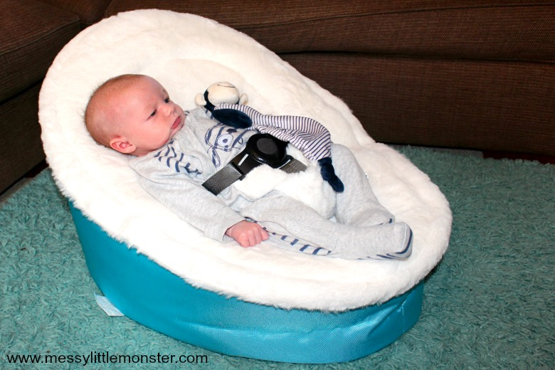 Snuggle seat baby bean bag chair review.