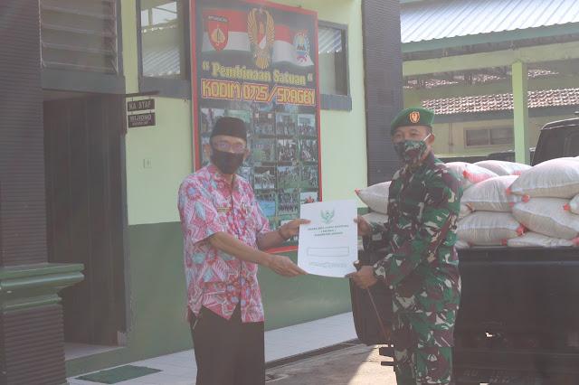 Kodim Sragen - Baznas Bantu Dapur Umum TNI-Polri Siaga Covid-19 Kodim Sragen