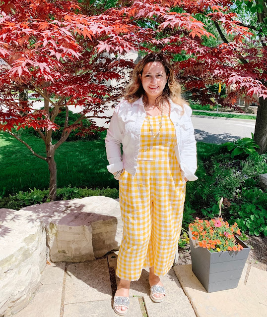 Yellow Gingham Romper from Old Navy