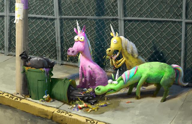 Pixar Onward Unicorn Concept Artwork