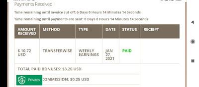 Earn money weekly in Timebucks