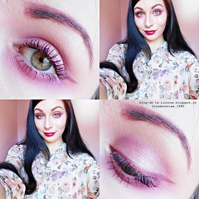 Spring Dark Cherry Blossom Makeup Inspiration Blog de la Licorne