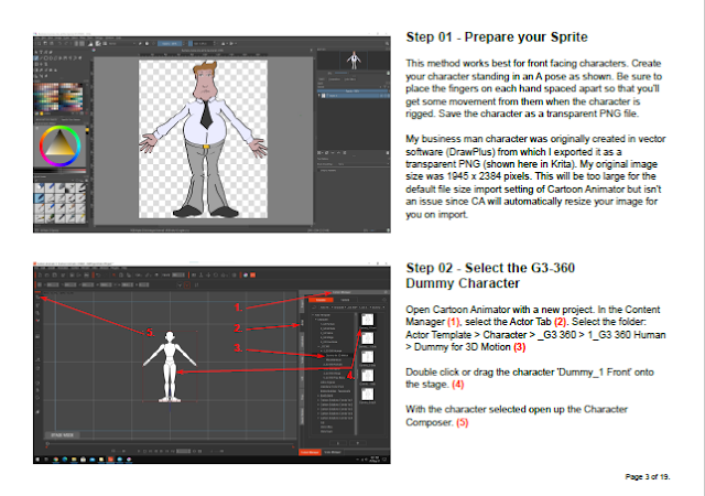 An example page from the PDF Tutorial Document.