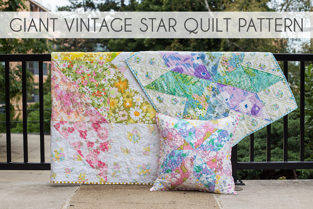 In Color Order: Giant Vintage Star Quilt Tutorial