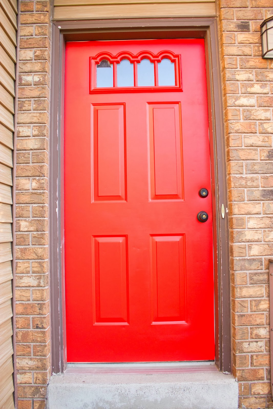 It S The One With Bright Red Door Yes We Still Need To Paint Trim Somewhere On Our Long List Of Updates Make