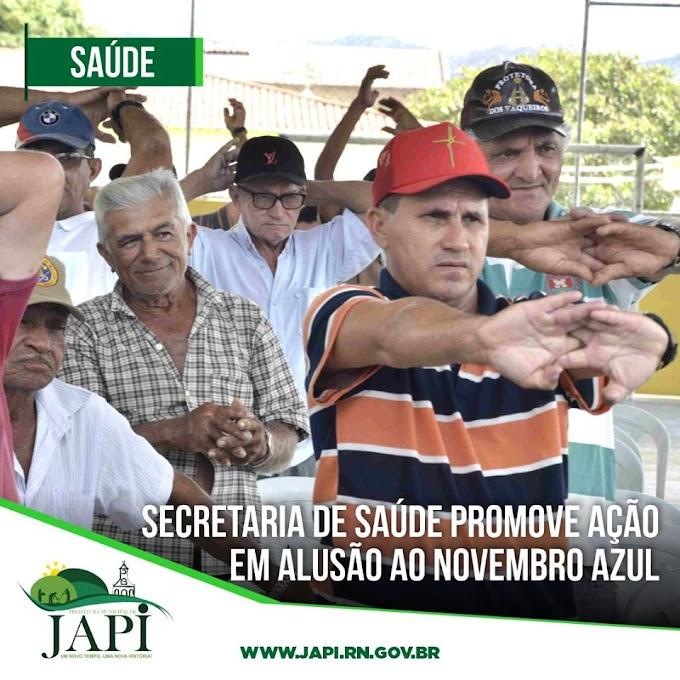 Secretaria de Saúde promove ação em alusão ao novembro azul