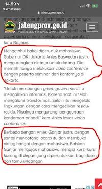 Bikin Berita Hoax Serang Anies, Pemprov Jateng Merasa Kalah Saing dengan Jakarta?