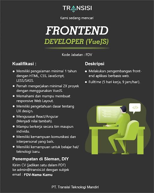 Lowongan Kerja Frontend Developer