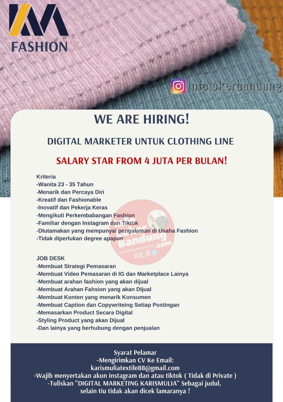 Lowongan Kerja Karis Mulia Textile Bandung Mei 2021