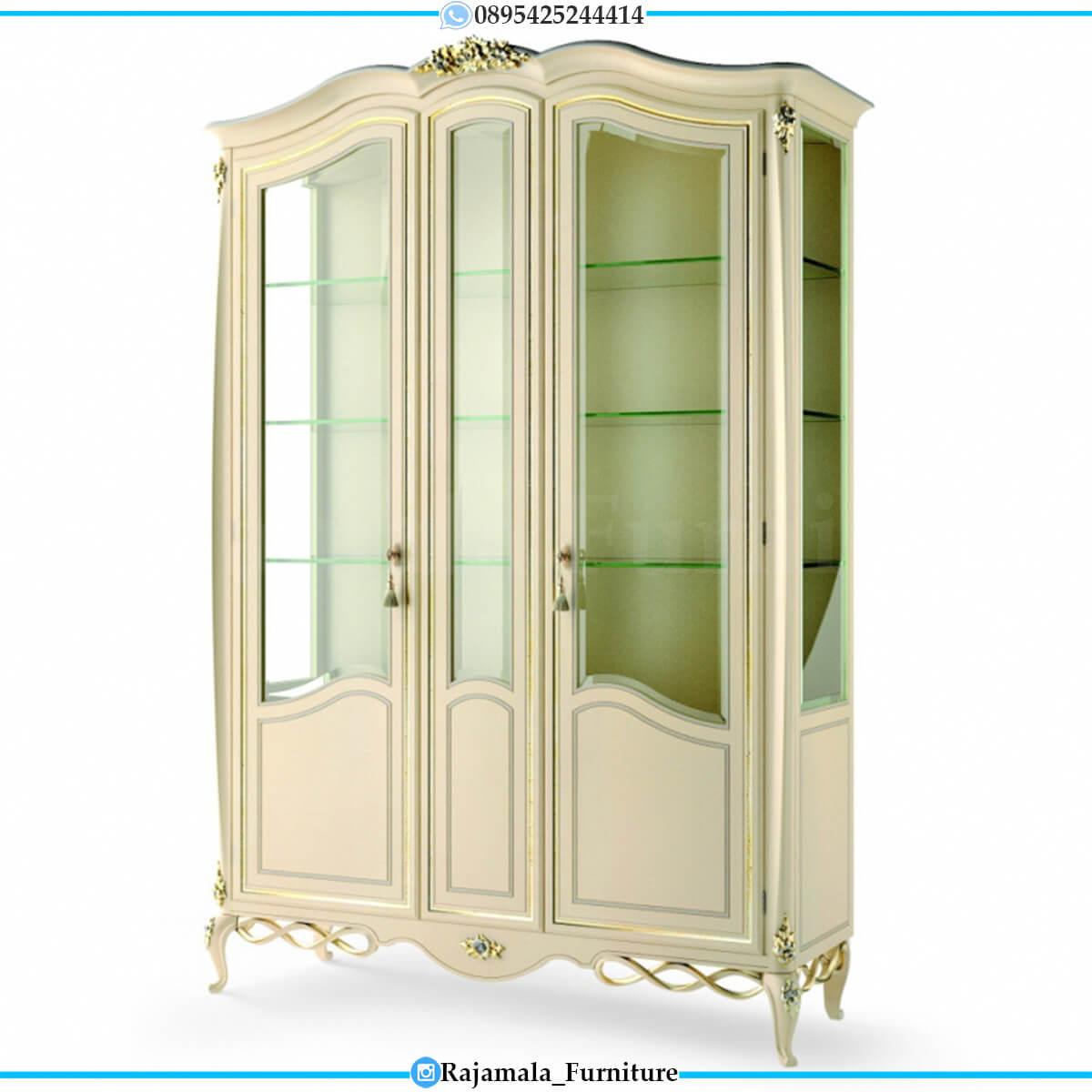 New Lemari Hias Mewah Kaca Ukiran Jepara Luxury Furniture RM-0684