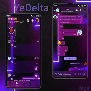 Neon Theme For YOWhatsApp & Delta WhatsApp By Marcos