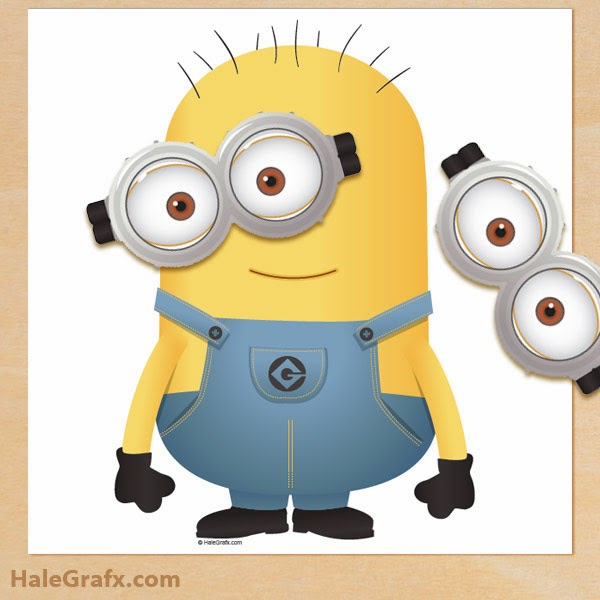 Free Printable Pin the Goggles on the Minion.