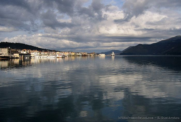 Argostoli Kefalonia Greece in winter