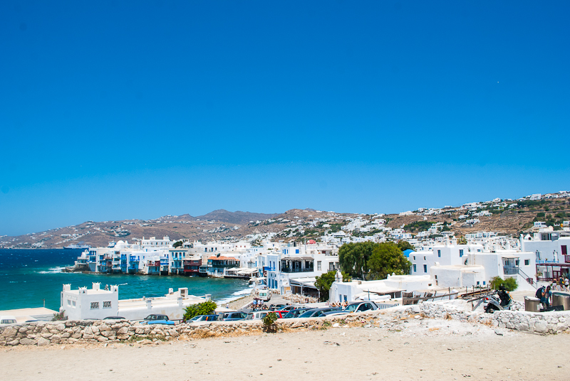 Little Venice in mykonos town, greece