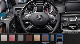 Nội thất Mercedes AMG G63 2015 màu Đỏ Learther ZK8