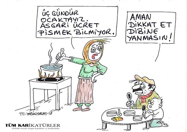 asgari ücretli karikatürü