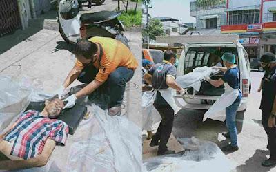 Masyarakat Sekitar di Jalan Asia Heboh, Ditemukan Mayat Laki-Laki Dalam Posisi Terlentang