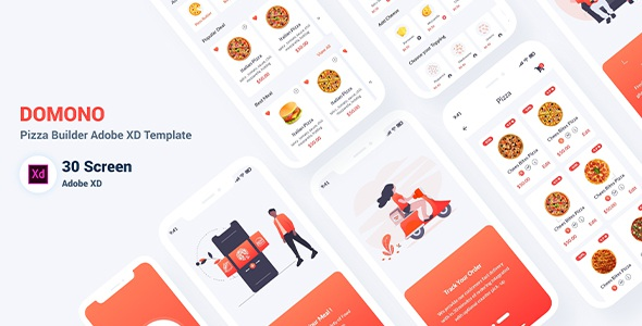 Best Pizza Builder Adobe XD Template